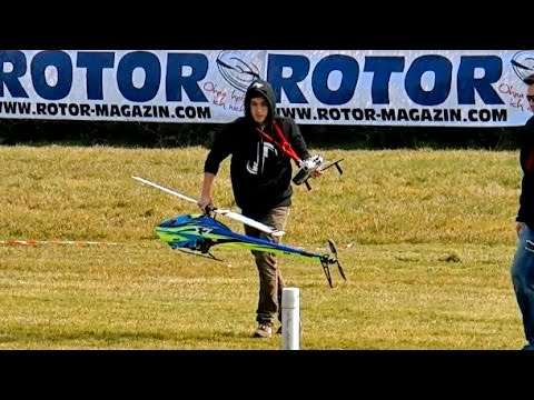RC Helicopter Crash Landing !!! Dunken Bossion One Hand Flight Gaui X7 *1080p50fpsHD*