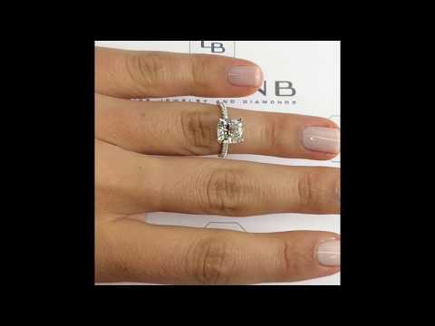 2.50 ct Cushion Cut Diamond Engagement Ring
