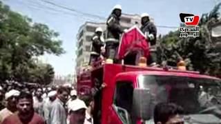الآلاف يشيعون جثمان «قتيل الشرطة» في جنازة عسكرية بالشرقية