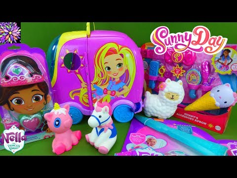 Sunny Day Salon Nella The Princess Knight Toys Unboxing Super Slow Rising Squishy Pony Girl Toys