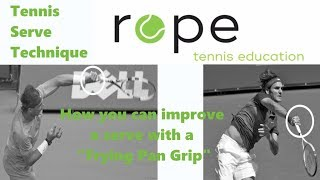 Tennis Serve Technique - How you can improve a Serve with a Frying Pan Grip