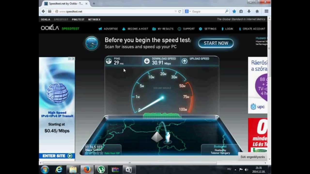 btc internet sebesség teszt