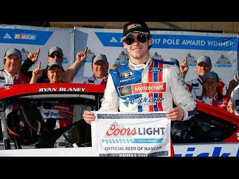 Ryan Blaney wins first career pole by a whisker; 11 teams fail inspection