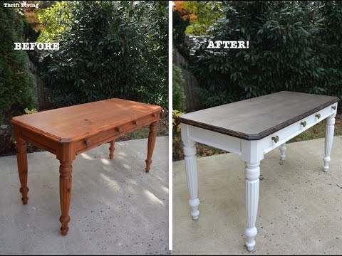 A 1980's DIY Desk Makeover Using Beyond Paint and Stain - Th