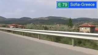 E79 Struma highway Sofia-Greece
