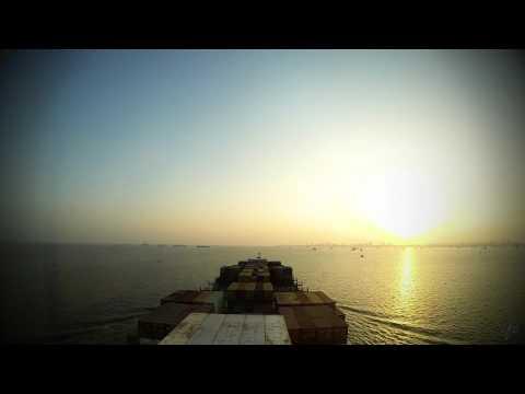 Time-lapse (60x): departure Nhava Sheva (Mumbai, India) [4K / UHD]