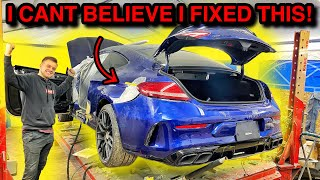 Rebuilding a WRECKED 2019 Mercedes C63AMG From COPART! (Part 5) I CANT BELIEVE ITS FIXED!!