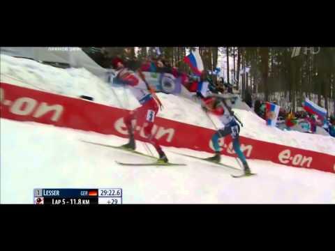 Anton Shipulin WC Biathlon 2015  Silver Finish