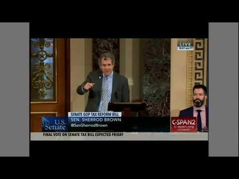 Sen. Sherrod Brown blasts the GOP Tax cuts