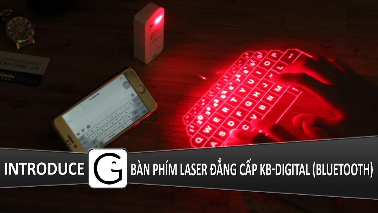 Bàn phím Laser cho điện thoại, laptop đẳng cấp KB-Digital (Bluetooth)