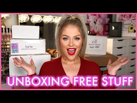 FREE STUFF BEAUTY GURUS GET! Huge PR Unboxing