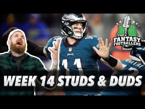 Fantasy Football 2017 - Week 14 Studs & Duds, Rising Stars, Is Dak Back? - Ep. #496