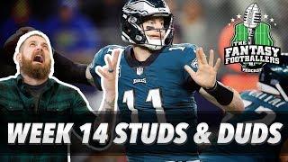 Fantasy Football 2017 - Week 14 Studs & Duds, Rising Stars, Is Dak Back? - Ep. #496