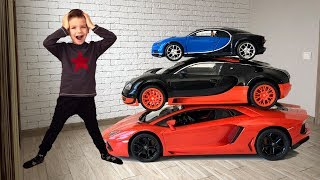 Машинки Бугатти заказали Марку новую Ламборгини. Видео для детей.