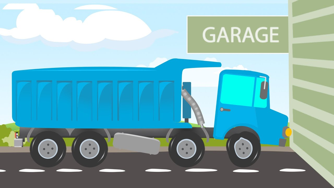 Garages For Trucks : Car garage gravel truck for kids youtube