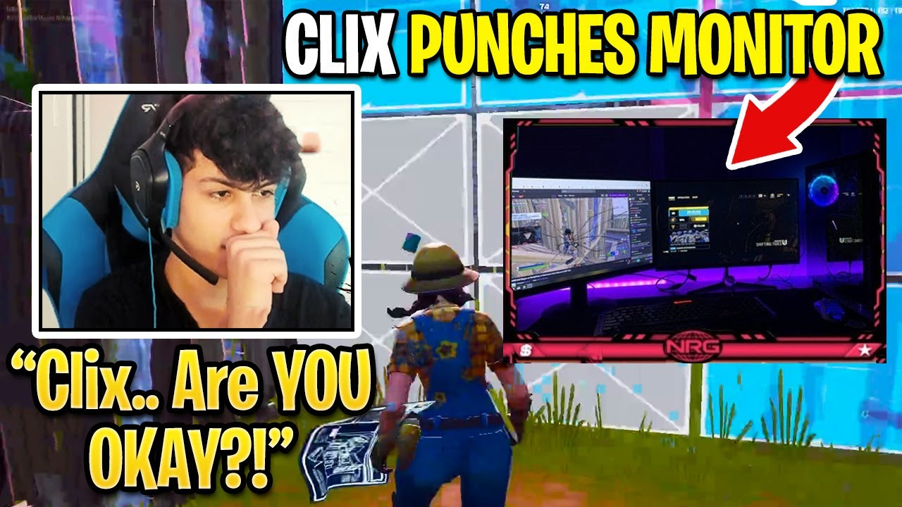 Clix Leaves EVERYONE Worried After PUNCHING HIS MONITOR with Uncontrollable RAGE...