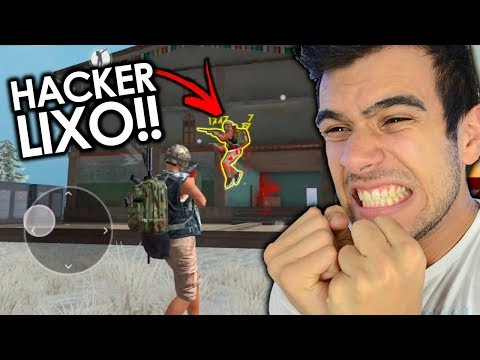 ELE PULOU 3X MAIS ALTO!! ACHEI UM HACKER AO VIVO NO FREE FIRE!!!