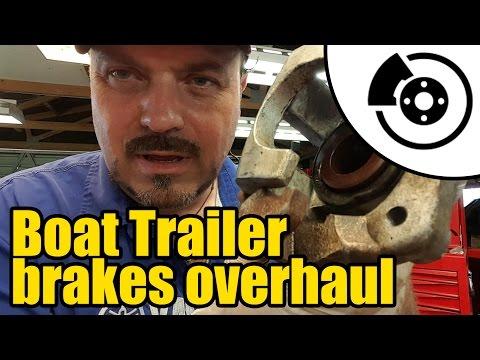 Boat trailer brake overhaul #1324