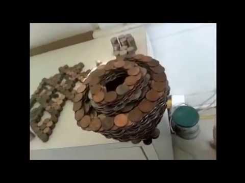Ein Turm aus Münzen - YouTube