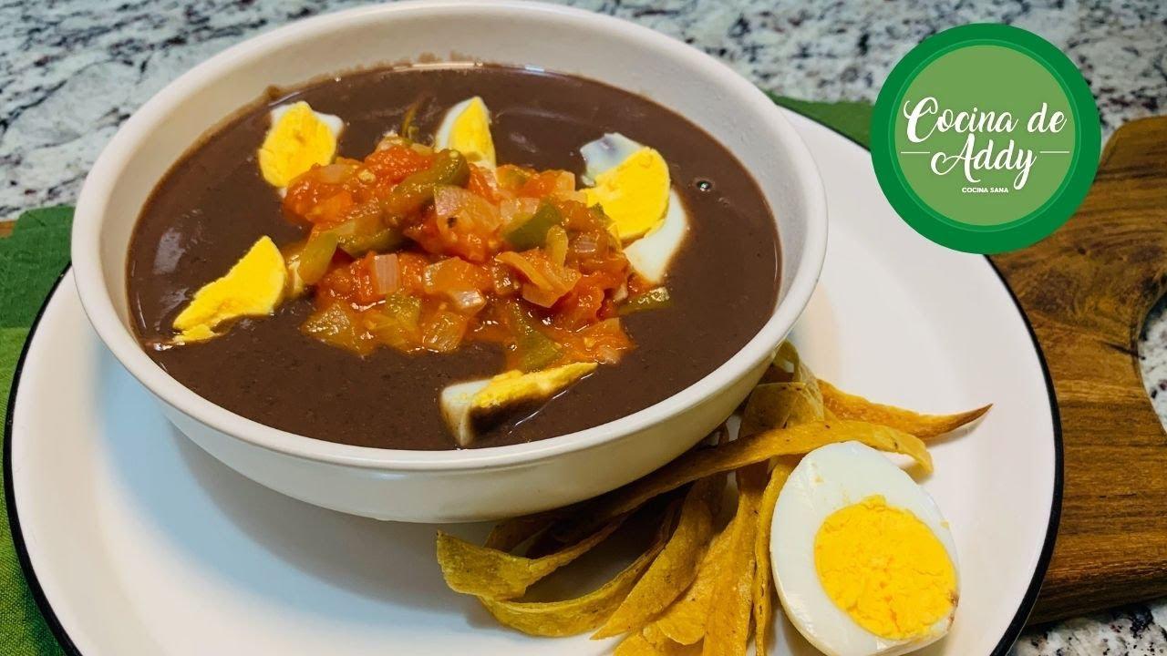 Almuerzo/Cena Saludable (+Hierro) SIN CARNE. Baja de Peso, Colesterol SOPA DE FRIJOL|Cocina de Addy