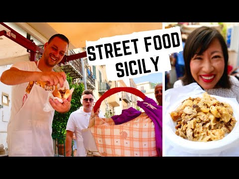 STREET FOOD In ITALY   SICILIAN Street Food In PALERMO, SICILY   Sicilian MARKET Food +