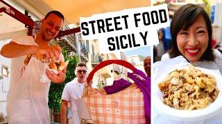 STREET FOOD in ITALY | SICILIAN street food in PALERMO, SICILY | Sicilian MARKET food +