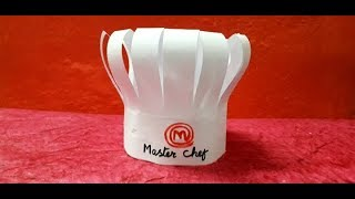 How to make master chef cap || Master chef cap