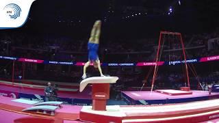 Jake JARMAN (GBR) - 2018 Artistic Gymnastics Europeans, junior vault silver medallist