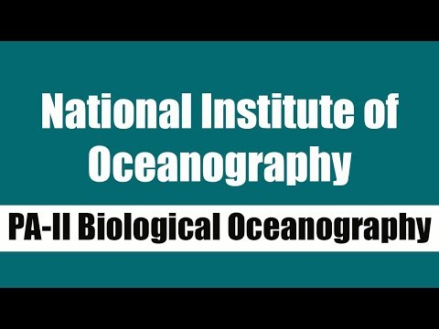 National Institute of Oceanography recruiting PA-II Biological Oceanography I Government Jobs 2019