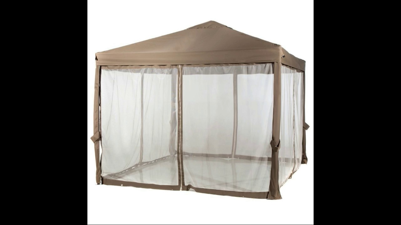 Abba Patio 10x10 Feet Fully enclosed Garden Canopy with Mesh Insect Screen Brown & Abba Patio 10x10 Feet Fully enclosed Garden Canopy with Mesh ...