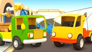 Vehículos de servicio. Dibujos animados de coches infantiles.