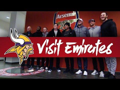 NFL's Minnesota Vikings visit Emirates Stadium