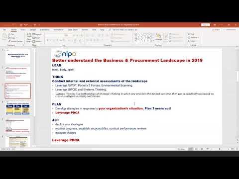 NLPA Webinar: Procurement Goals And Objectives For 2019.