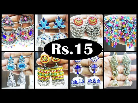 Rs.15/. Onwards Exclusive Oxidized Earrings Collections @ Wholesale Price RK Fashion +91 97895 26319