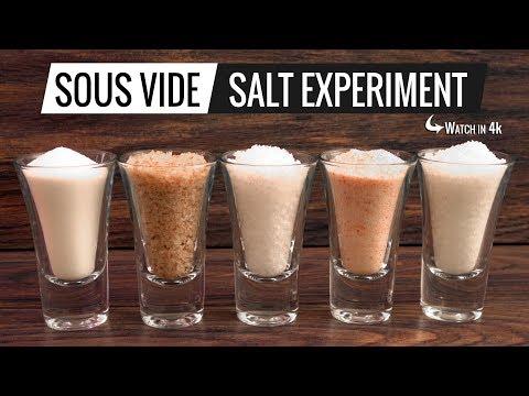 Sous Vide SALT EXPERIMENT - What's the BEST SALT for sous vide?