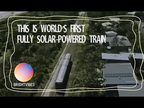 World's first fully solar-powered train has left the station
