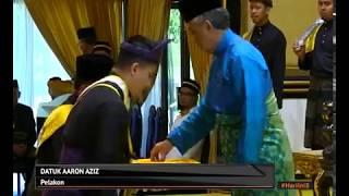 Farid Kamil, Aaron Aziz dianugerahkan gelaran Datuk