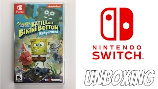 SPONGEBOB SQUAREPANTS BATTLE FOR BIKINI BOTTOM REHYDRATED GAME UNBOXING