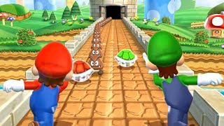 Mario Party 9 MiniGames - Mario Vs Yoshi Vs Peach Vs Luigi (Master Cpu)