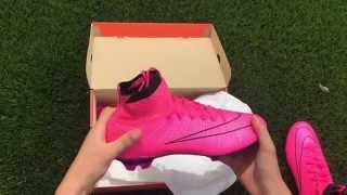 Unboxing & Test of Nike Mercurial Superfly FG Hyper Pink | Lightning Storm Pack | FlexShots |