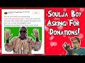 Soulja Boy Asking For Donations! Largest Donation Wins Free Soulja Game Console & Watch!