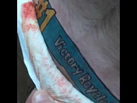 Guy Gets Fortnite Tattoo