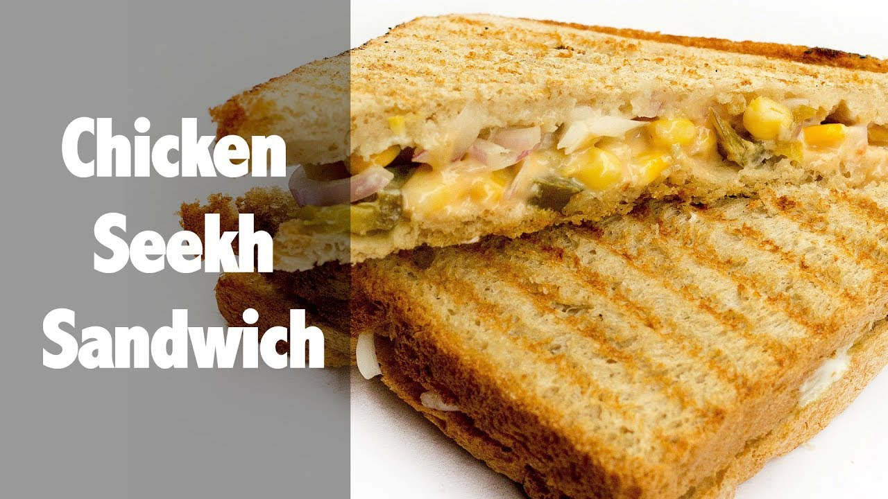 Grilled Chicken Seekh Sandwich 10 Minutes Recipes Quick Delicious Cuisine