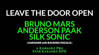 Download lagu Bruno Mars, Anderson Paak and Silk Sonic - Leave The Door Open ( KARAOKE with BACKING VOCALS )