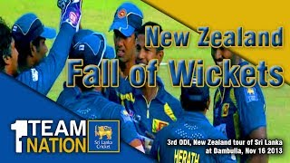 Fall of Wickets, NZ Innings -  Sri Lanka Vs New Zealand 2013, 03rd ODI