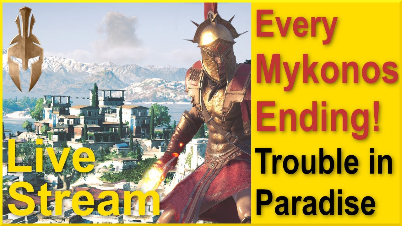 Assassins Creed Odyssey - Trouble in Paradise - Mykonos Story with All Endings and Spoartan Javelin!