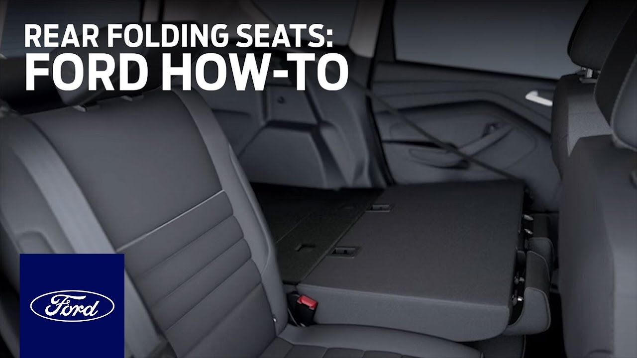 Rear Folding Seats With Side Release And Folding Head Restraints