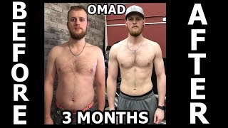 3 MONTH WEIGHT LOSS RESULTS   OMAD RESULTS   TRANSFORMATION   INTERMITTENT FASTING