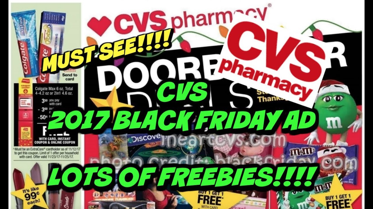 🔥 🔥 CVS 2017 BLACK FRIDAY AD | LOTS OF FREE STUFF | MUST 👀