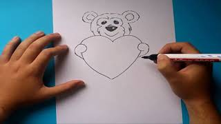Como dibujar un oso de peluche paso a paso 2 | How to draw a teddy bear 2